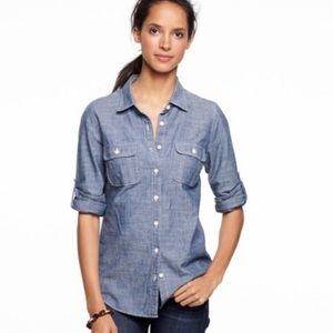J. Crew The Perfect Shirt Chambray Button Down